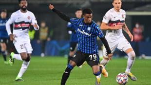 Ivorian forward Amad Diallo in action for Atalanta