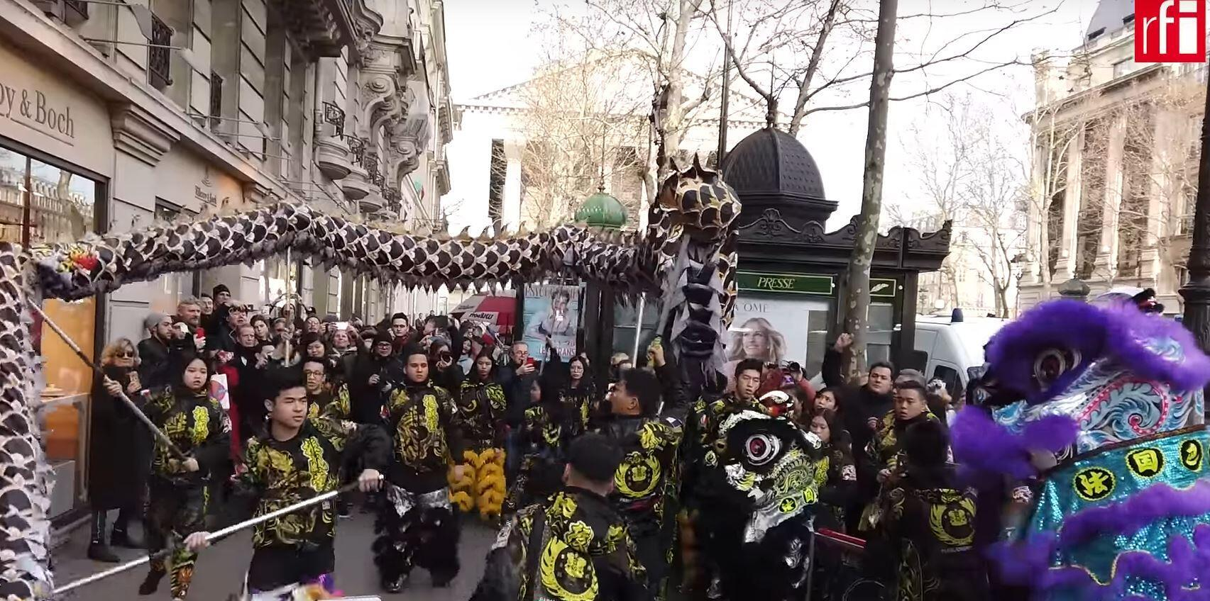 Chinese new year parade in Paris, 2019