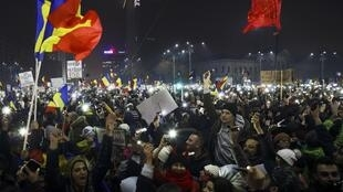 Демонстрация в Бухаресте, 5 февраля 2017 г.