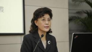 中共中央黨校退休教師蔡霞資料圖片
