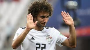 L'Egyptien Amr Warda, exclu de l'équipe d'Egypte qui dispute la CAN 2019, et qui est soupçonné d'harcèlement sexuel.