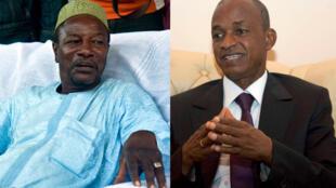 Les candidats au second tour de la présidentielle guinéenne Alpha Condé (G) et Cellou Dalein Diallo (D).