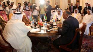 Chefes da diplomacia da Arábia Saudita, dos Emirados Árabes Unidos, Bahrein e Egito se reuniram no Cairo, nesta quarta-feira (5).