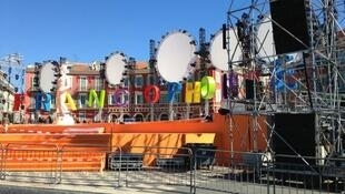 Main stage at the Francophonie games in Nice, France