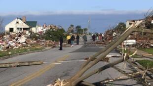 Estragos de los tornados en el sur de Estados Unidos.