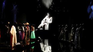 Une salle  du nouveau musée Yves Saint Laurent à Marrakech.