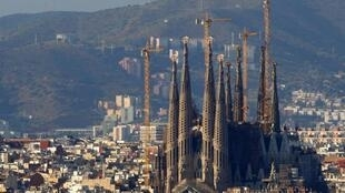 Antonio Gaudi's Sagrada Familia cathedral in Barcelona - now six hours away from Paris