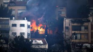 Пожар в Хайфе. 24 ноября 2016