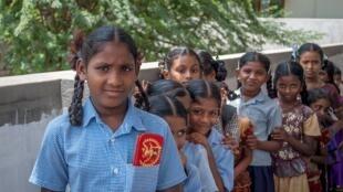 Ecolières en Inde.