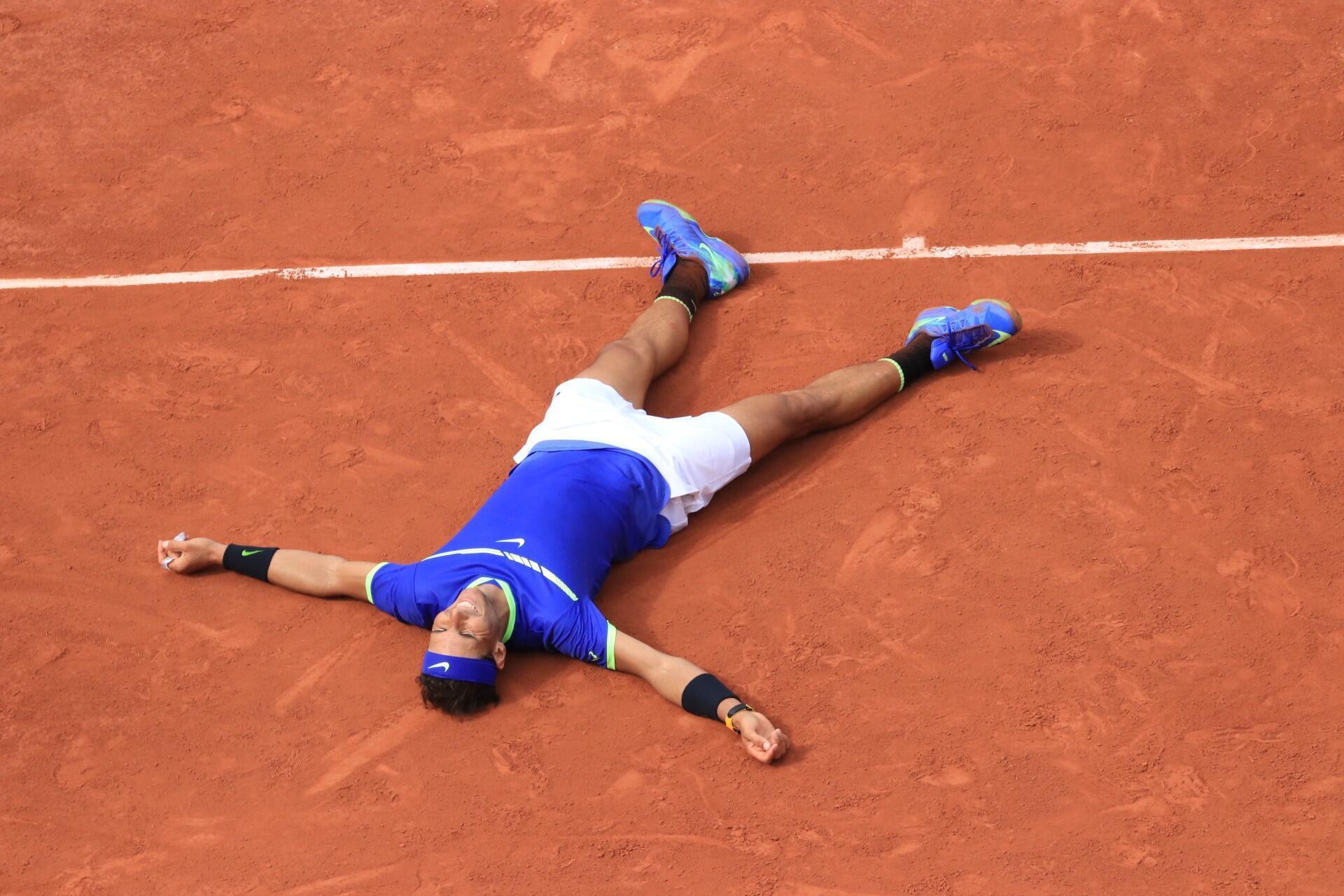 Rafael Nadal tras su victoria en la final de Roland Garros.