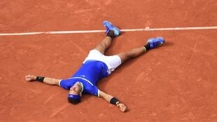 Rafael Nadal after winning Roland Garros tournament on 6 June 2017
