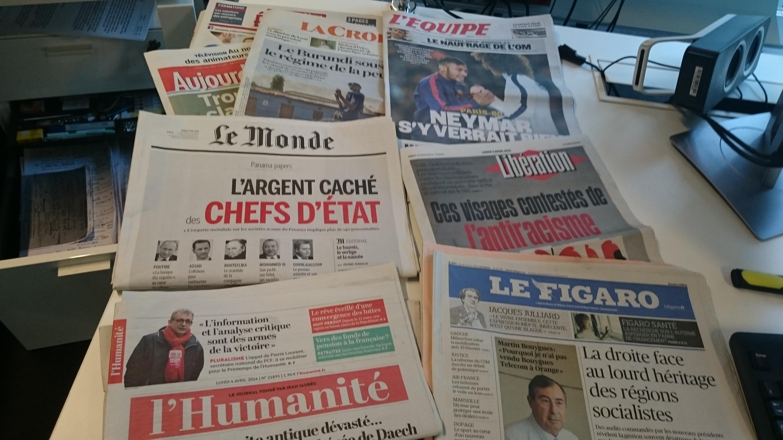 Diários franceses 04.04.2016
