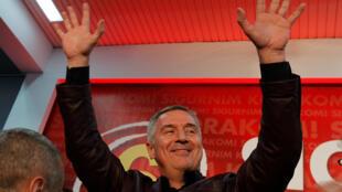 Firaministan Montenegro Milo Djukanovic, a yayin murnar nasarar da ta jam'iyyarsa ta samu a zaben 'yan majalisa