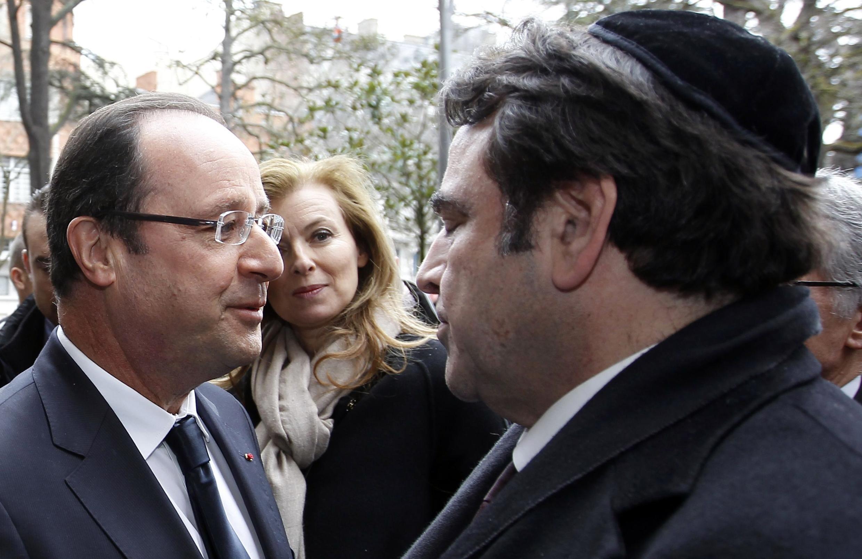 French President François Hollande at a commemoration of Mohammed Merah's killing spree last year