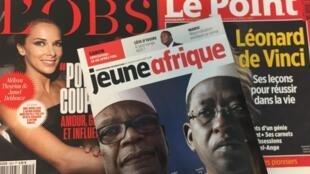 Capas dos semanários franceses.