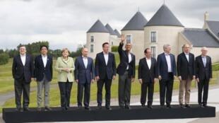Ảnh tư liệu : Tổng thống Nga Vladimir Putin và nguyên thủ các nước dự thượng đỉnh G8 tại Lough Erne, Bắc Ireland, ngày 18/06/2013