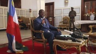 Le président centrafricain François Bozizé, le 8 janvier 2013 à Bangui.