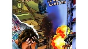 """Trang bìa truyện tranh """"Chernobyl, đám mây không hồi kết"""", của hội Bệnh nhân Tuyến giáp của Pháp, 64 trang, 23x30 cm."""