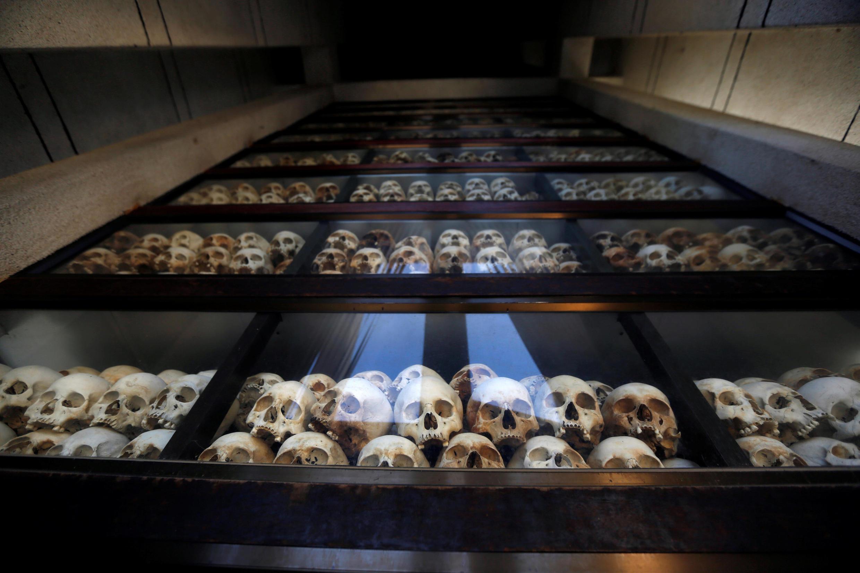 """Sọ người tại bảo tàng Choeung Ek, nơi tưởng niệm trên 8.000 nạn nhân của Khmer Đỏ tại """"Cánh đồng chết"""" ở ngoại ô Phnom Penh. Ảnh chụp ngày 05/01/2019."""