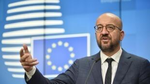 Le président du Conseil européenne Charles Michel, lors du sommet de l'UE à Bruxelles, le 2 octobre 2020.