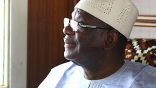 Ibrahim Boubacar Keïta, IBK, à Bamako, 25 juillet 2013.