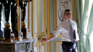 Alexis Kohler, Elysee Secretary General leaves a meeting at the Elysee Palace in Paris in May 2017.