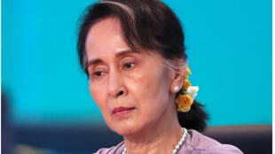 Shugabar gwamnatin Myanmar Aung San Suu Kyi.