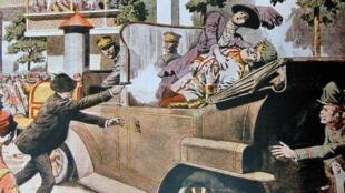 """Trang nhất mô tả vụ ám sát Đại công tước Áo-Hung, báo """"Petit Journal"""" (DR)"""