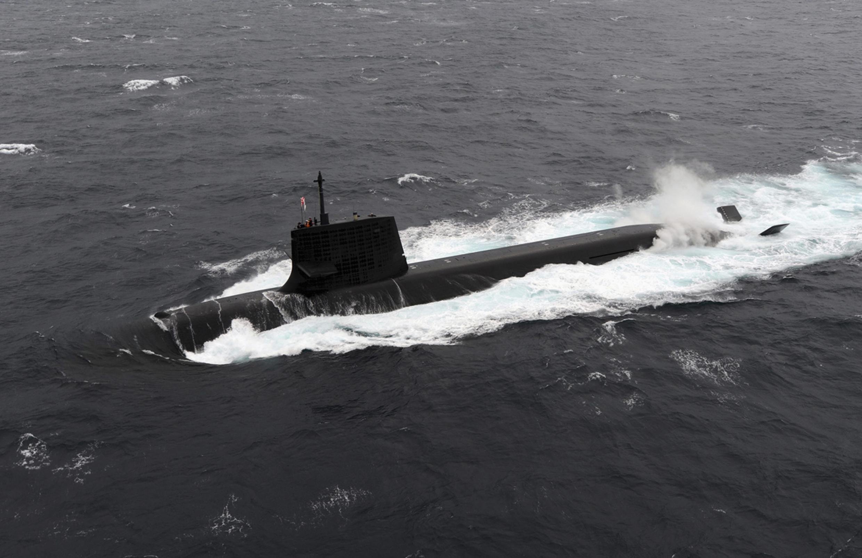 Tàu ngầm lớp Soryu của Nhật. Ảnh do Lực Lượng Phòng Vệ Nhật Bản cung cấp ngày 1/9/2014.