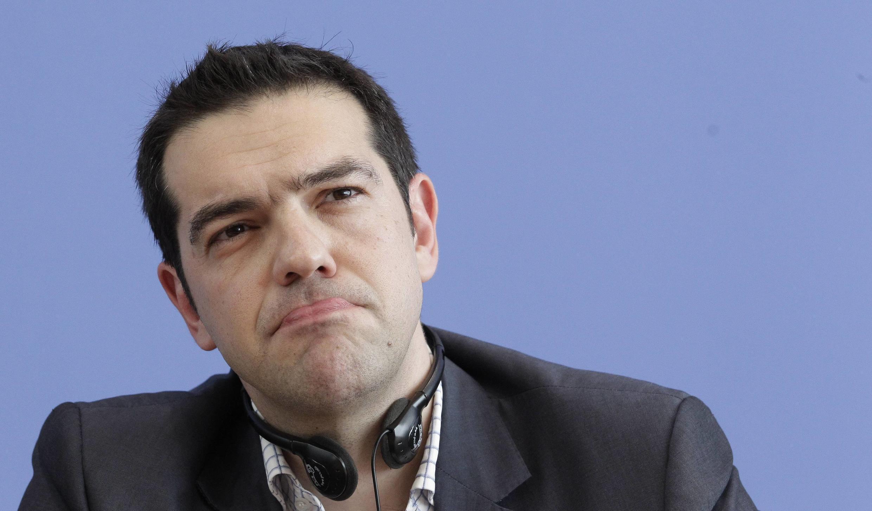 Глава леворадикальной коалиции СИРИЗА и новый премьер-министр Греции Алексис Ципрас