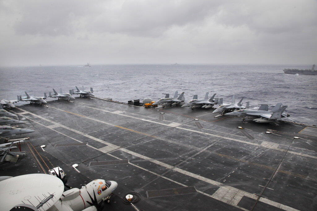 exercice militaire - Malabar - USS Nimitz - Golfe du Bengale