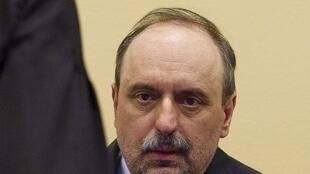 Goran Hadzic, au tribunal international pour l'ex-Yougoslavie, le 25 juillet 2011.