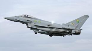 Un chasseur Typhoon des forces de l'Otan en Libye.