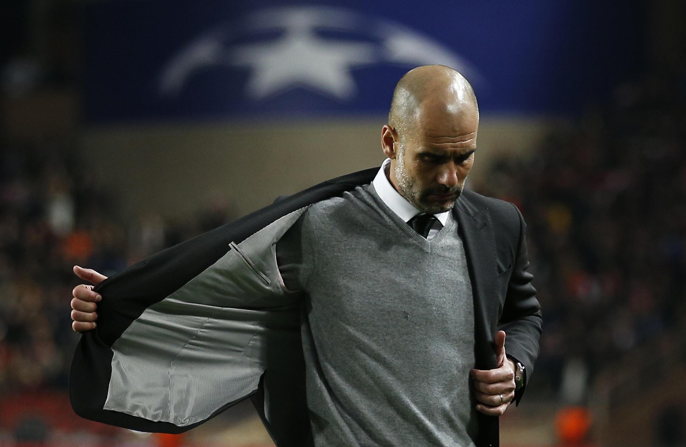 Mai horar da Manchester City Pep Guardiola bayan wasan da FC Monaco ta fidda kungiyarsra daga gasar cin kofin zakarun nahiyar Turai.