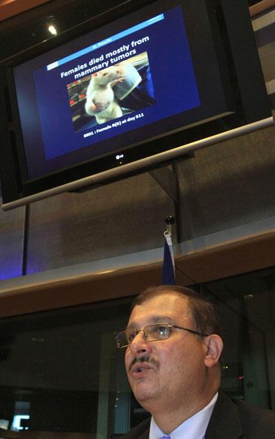Выступление исследователя Ж.-Э. Сералини в европарламенте в Брюсселе 20-го сентября 2012 г.