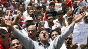 Au Caire, sur la place Tahrir, le 20 mai 2011.
