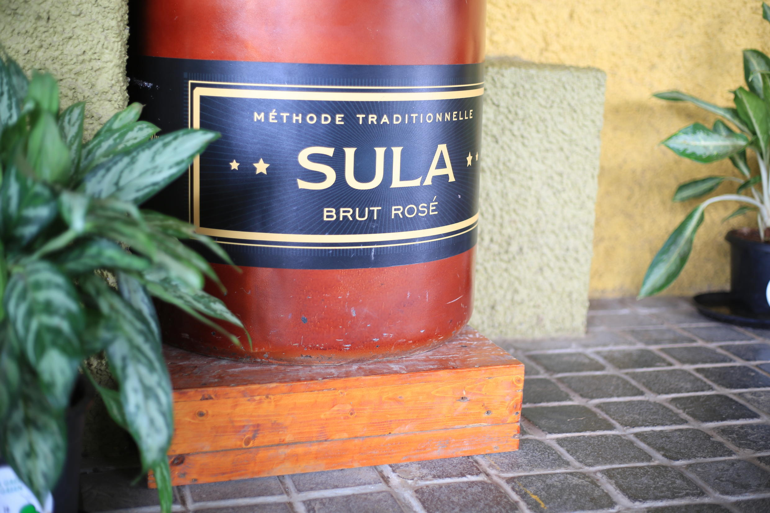 The Sula wine is made in India