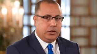 Le Premier ministre tunisien, Hichem Mechichi, le 27 février 2020.