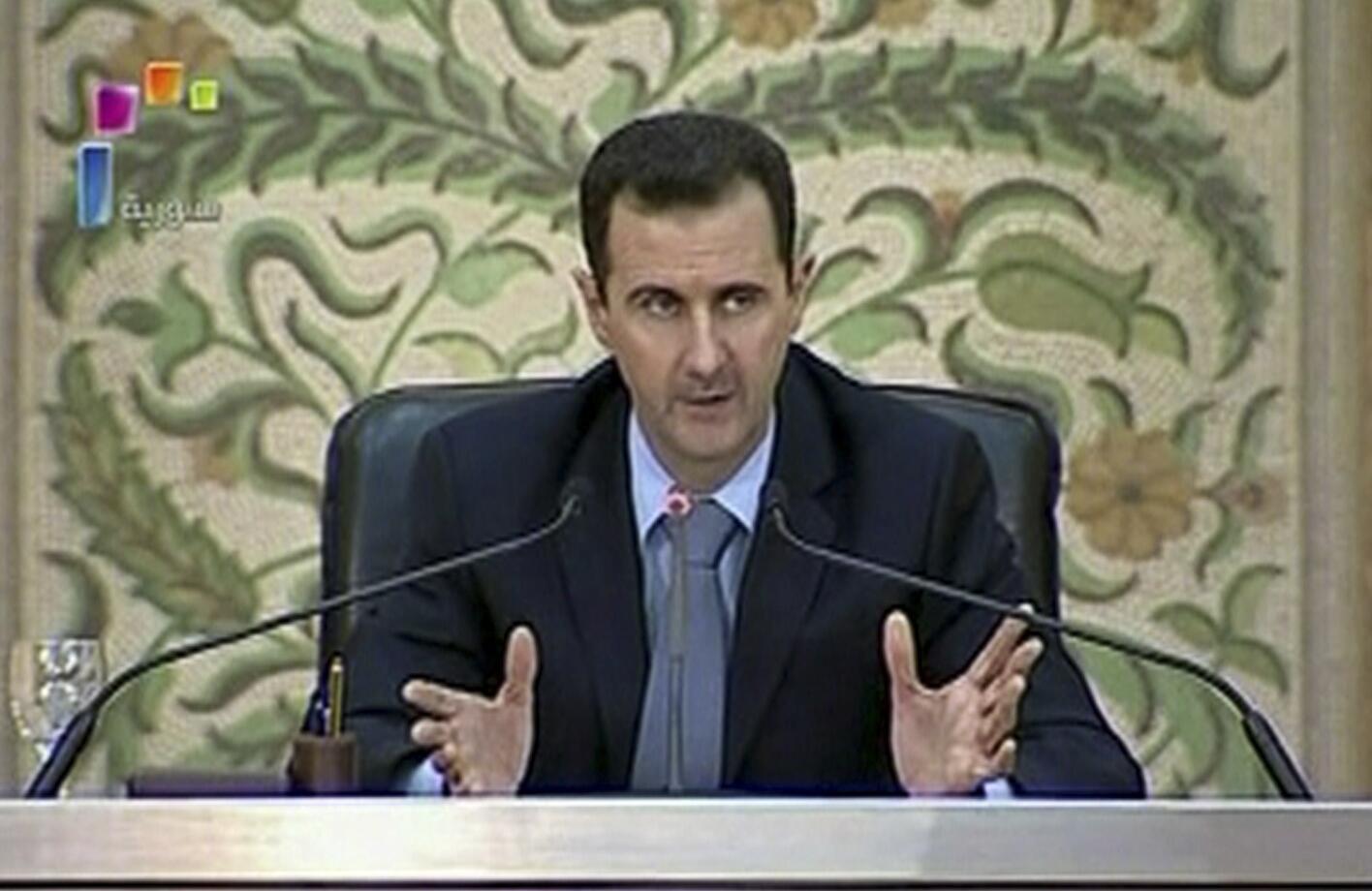Башар Асад выступает по телевидению, 16 апреля 2011 года