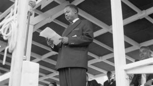 Discours d'Ahmadou Babatoura Ahidjo le 1er janvier 1960, jour de l'indépendance du Cameroun.