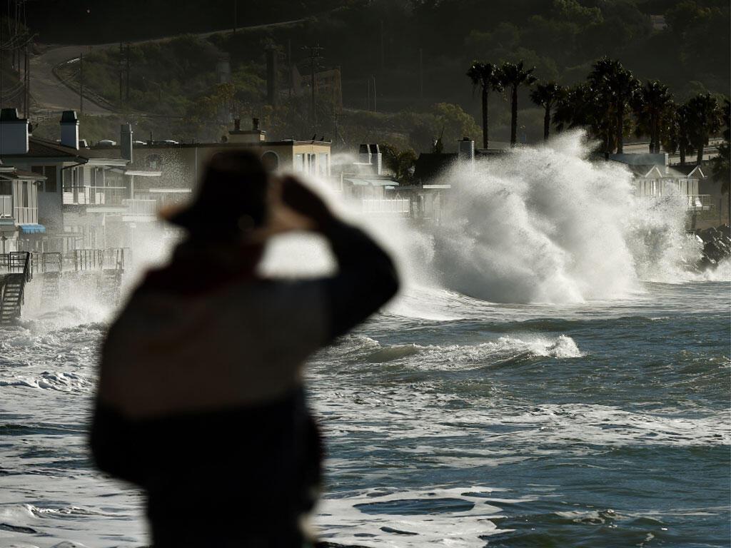 Aux Etats-Unis, une tempête causée par El Niño touche la Californie. Photo datée du 12 janvier 2016.