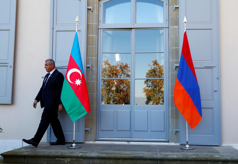 Архивное фото переговоров лидеров Азербайджана и Армении в Женеве. 16 октября 2017 года.