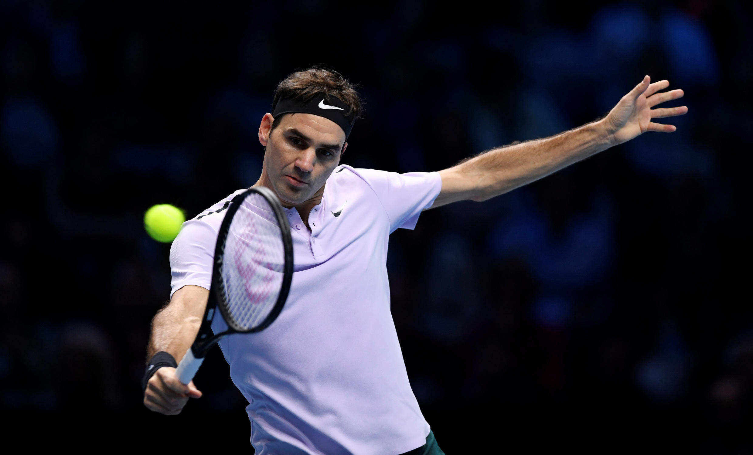 Roger Federer is trying to win the end of season championships for a record seventh time.