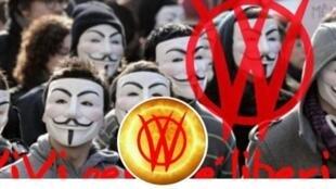 Photos de profil et de couverture d'une militante Vivi italienne, sur Facebook − Facebook _Capture d'écran