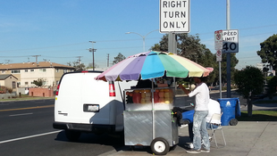 A street vendor in Venice, California