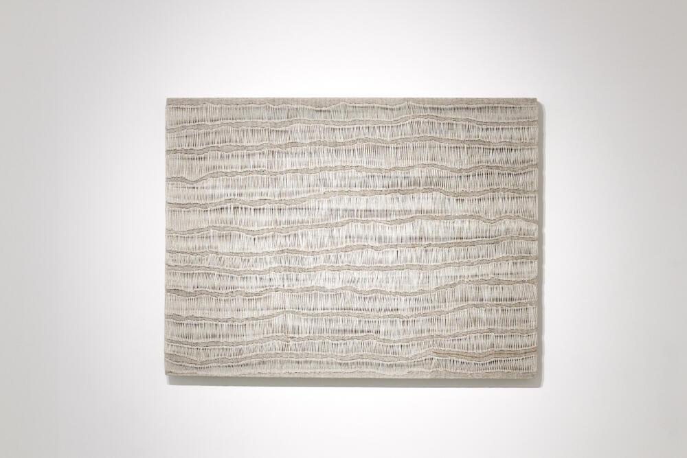 Obra de Sidival Fila na galeria Jérôme Poggi, em Paris.