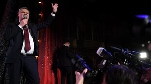 """""""Por primera vez desde 1999, los socialdemócratas somos el partido del primer ministro"""", dijo el líder socialdemócrata Antti Rinne, tras la victoria. Helsinki, Finlandia, el 14 de abril de 2019."""