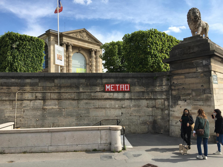 Le Jeu de Paume, centre d'art dédié à l'image, ici en mai 2020, dispose aussi d'un espace virtuel, resté ouvert pendant la fermeture.