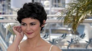 L'actrice française Audrey Tautou, maîtresse de cérémonie du 66e Festival du film de Cannes.