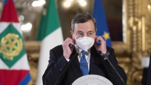 El expresidente del Banco Central Europeo, Mario Draghi, el 3 de febrero de 2021 en Roma, Italia